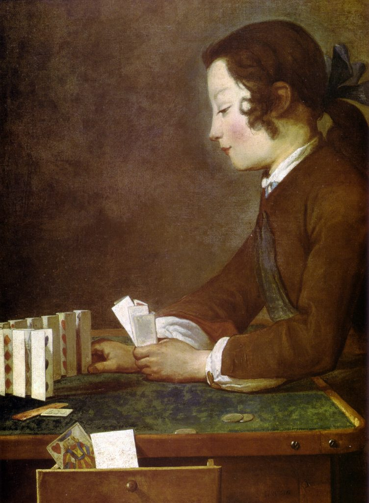 Boy Playing With Cards Jean Baptiste Chardin