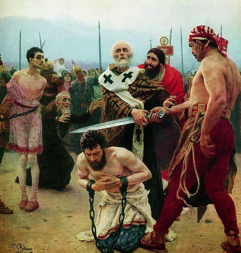 Saint Nicholas Save Three Innocents from Death Ilya Repin