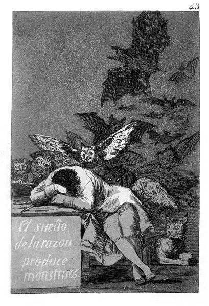 The Sleep of Reason Produces Monsters Francisco Goya