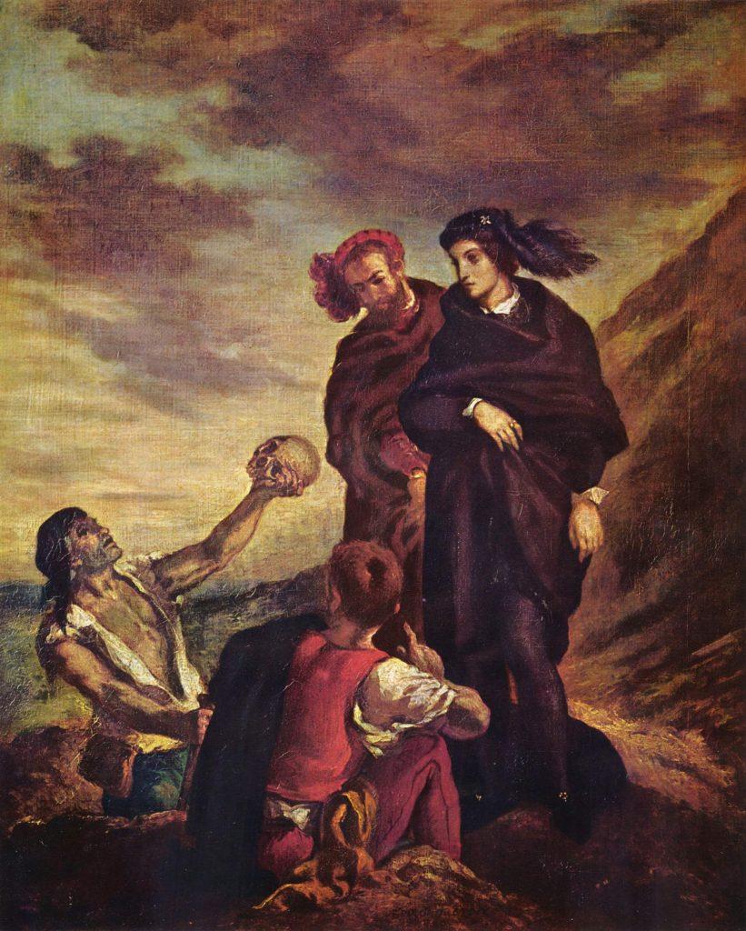 The Grave Digger Scene Eugene Delacroix