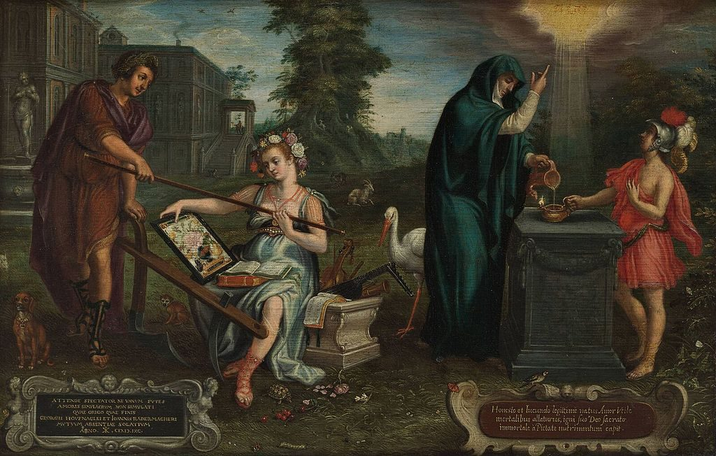 Allegory on the friendship between the artist and Joannes Radermacher