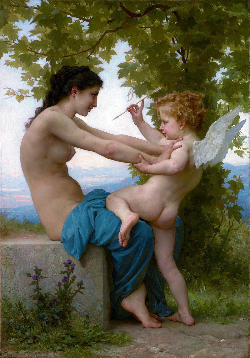 A Girl Defending Herself Against Eros William-Adolphe Bouguereau