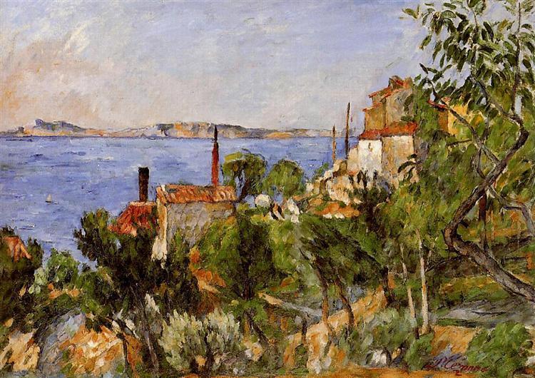 Landscape Study After Nature Paul Cezanne