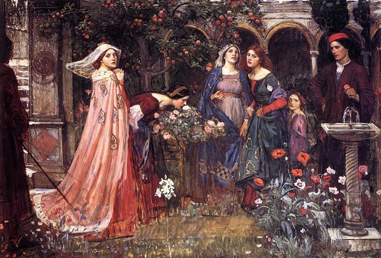 The Enchanted Garden John William Waterhouse