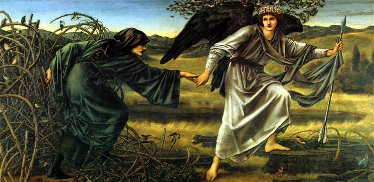 Love Leading the Pilgrim Edward Burne-Jones