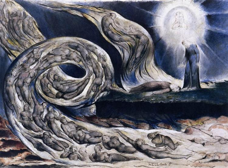 the lover's whirlwind william blake