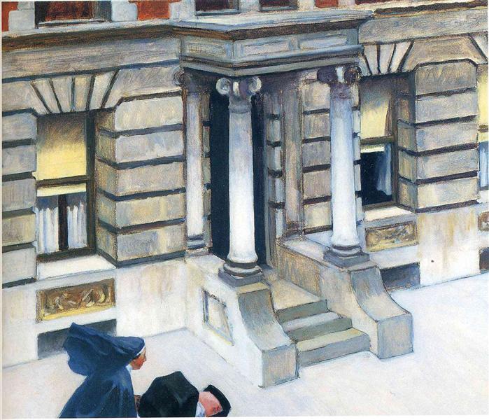 New York Pavements Edward Hopper