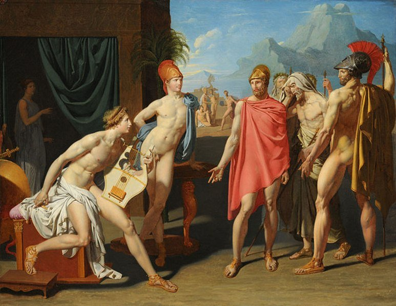 achilles receiving the ambassadors of agamemnon