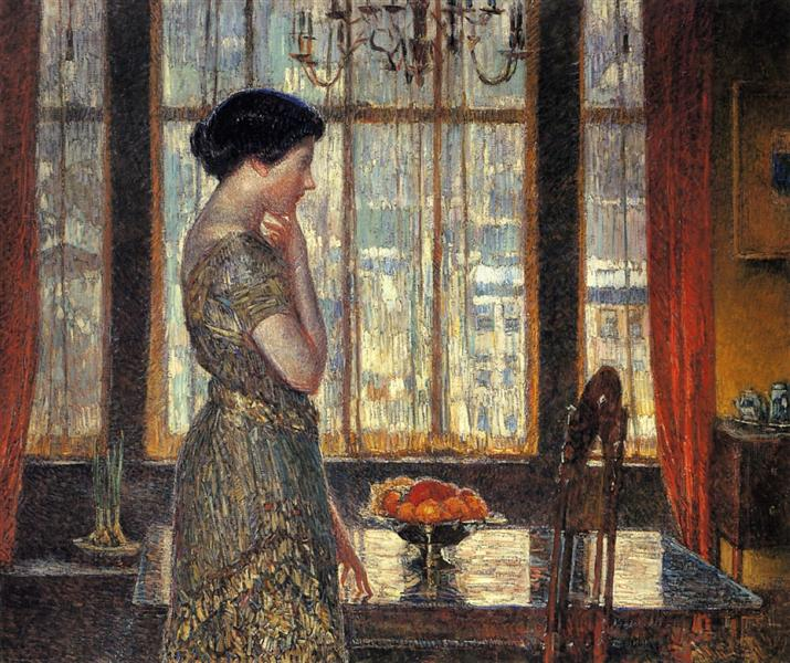New York Winter Window (1918-19) Childe Hassam