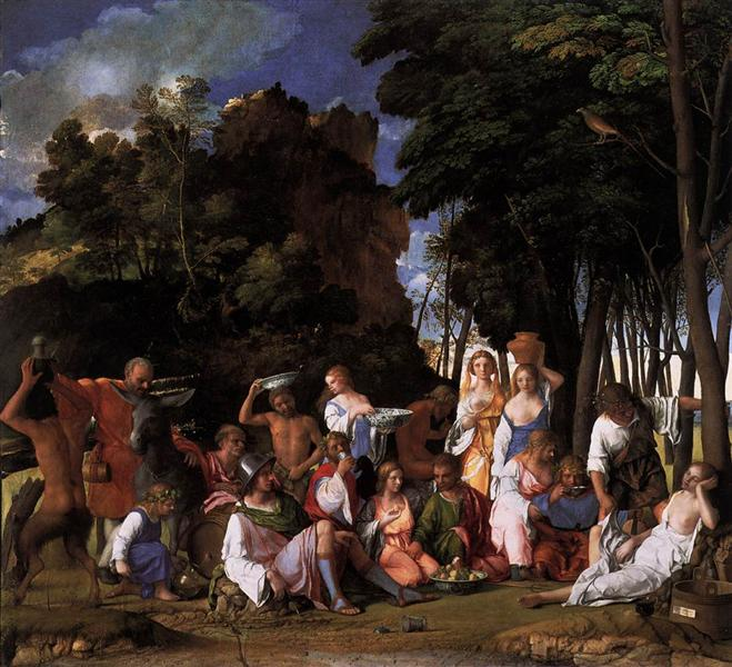 The Feast of the Gods Giovanni Bellini