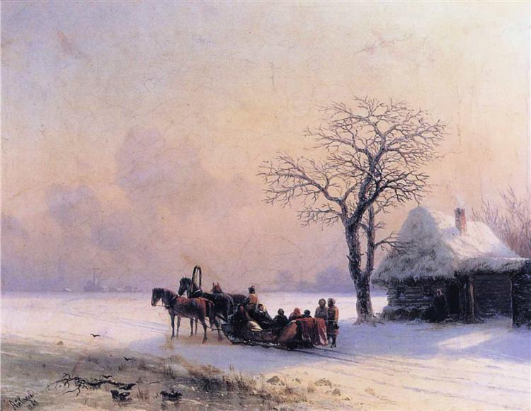 Winter Scene in Little Russia