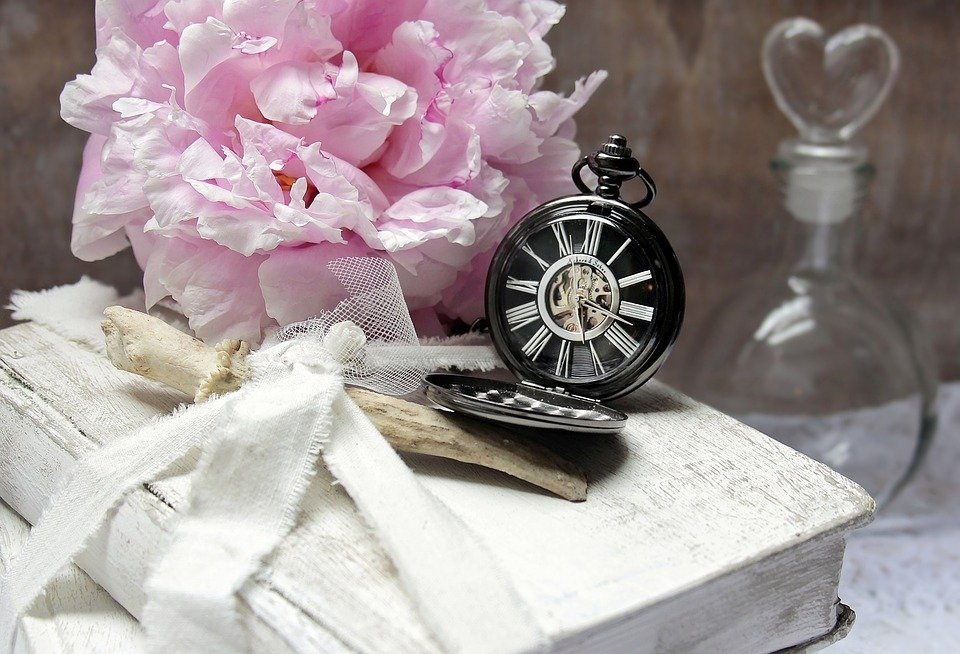 June Peony Book Pocketwatch