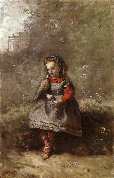 Woman holding turtledove