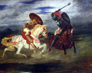 Two Knight Fighting