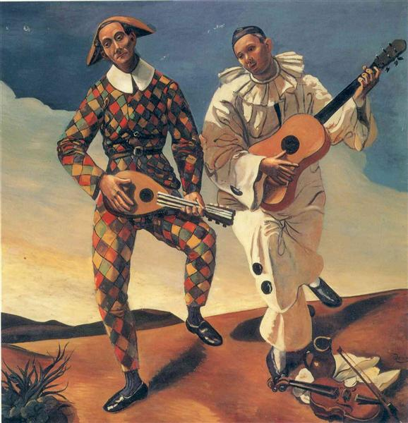 Harlequin and Pierrot